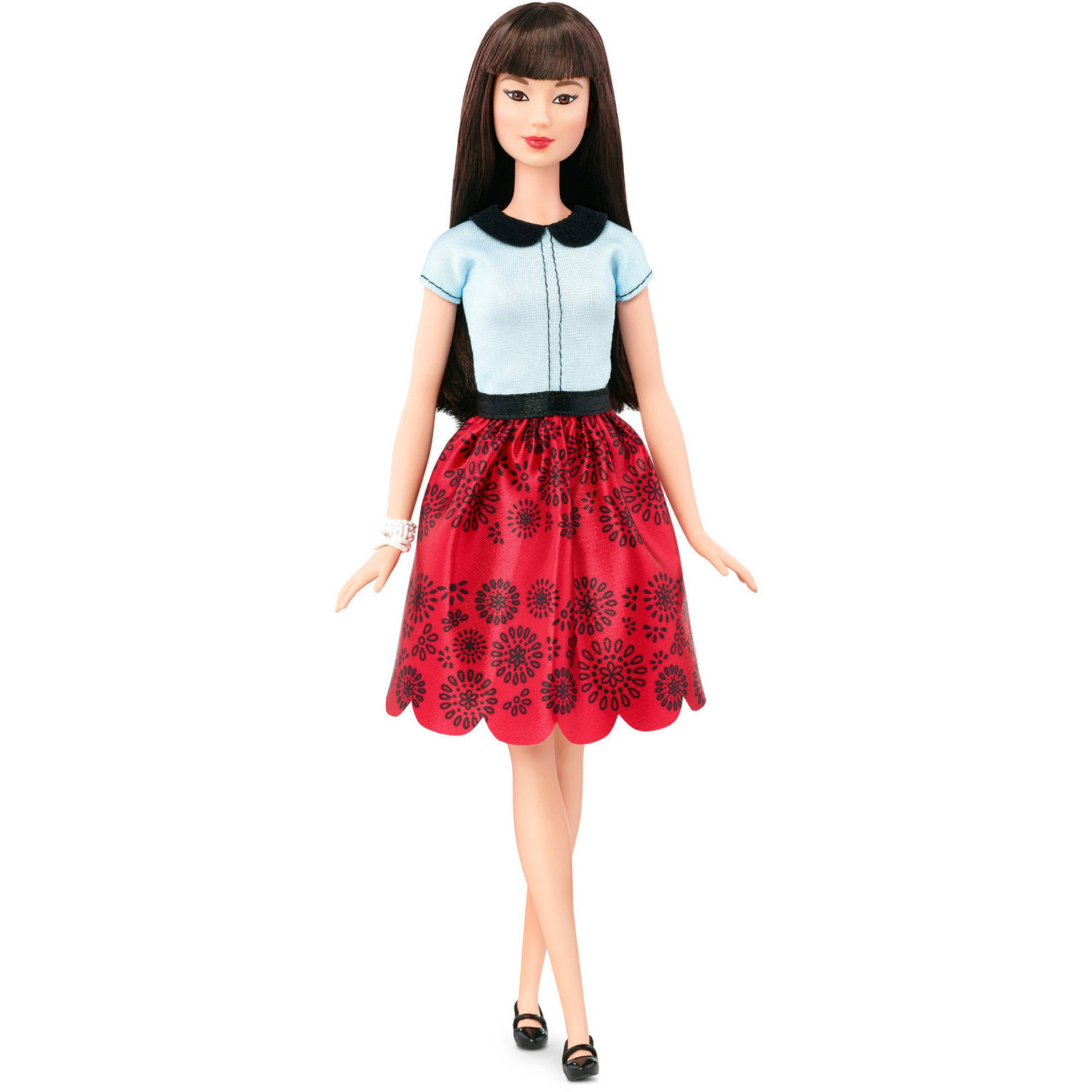 Barbie Fashionistas Doll 19, Ruby Red Floral, Original by MATTEL INC.