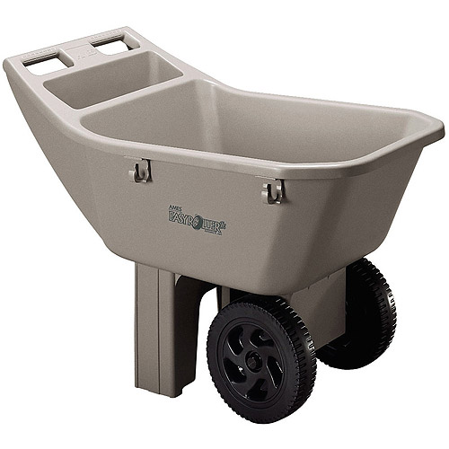 Ames 2463675 3 Cubic Feet Easy Roller Jr. Lawn Cart
