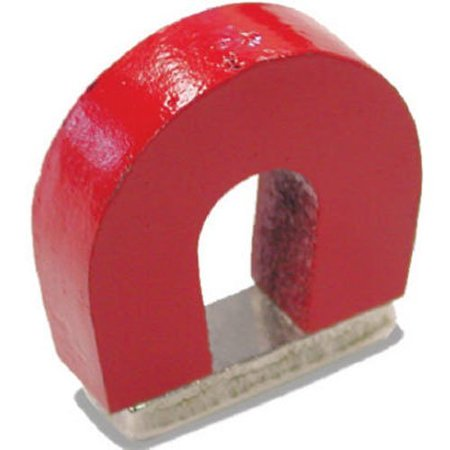 Red Cast Alnico 5 Horseshoe Magnet With Keeper  1 133  Wide  1  High  0 318  Thick  Pack Of 1   Ship From Usa Brand Small Parts