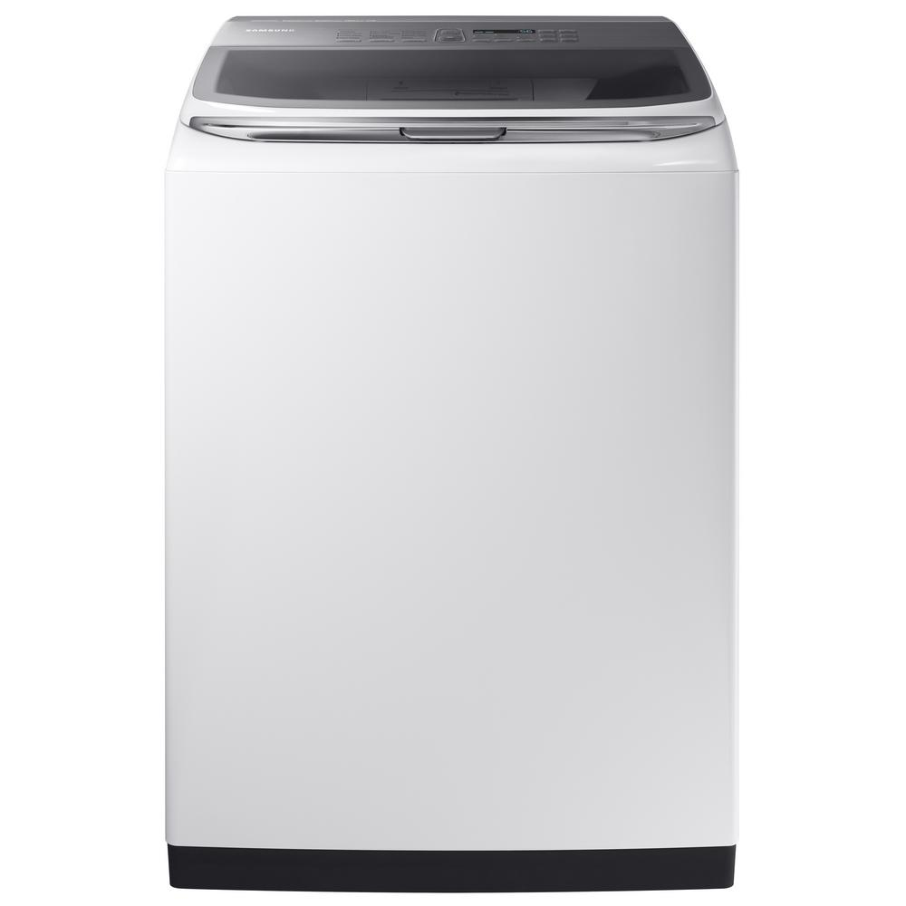 Samsung WA52M8650AW - Washing machine - freestanding - width: 27 in - depth: 29.3 in - height: 42.4 in - top loading - 5.2 cu. ft - 800 rpm - white