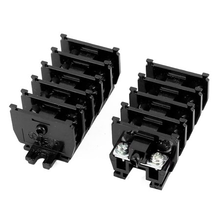 10Pcs TBC-10A 600V 10A Rail Mounted Screw Terminal Block Connector