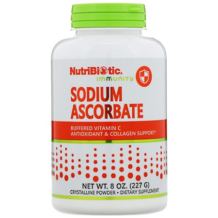 NutriBiotic  Buffered Sodium Ascorbate  Vitamin C  Crystalline Powder  8 oz  227 g (Sodium Polyacrylate Powder)
