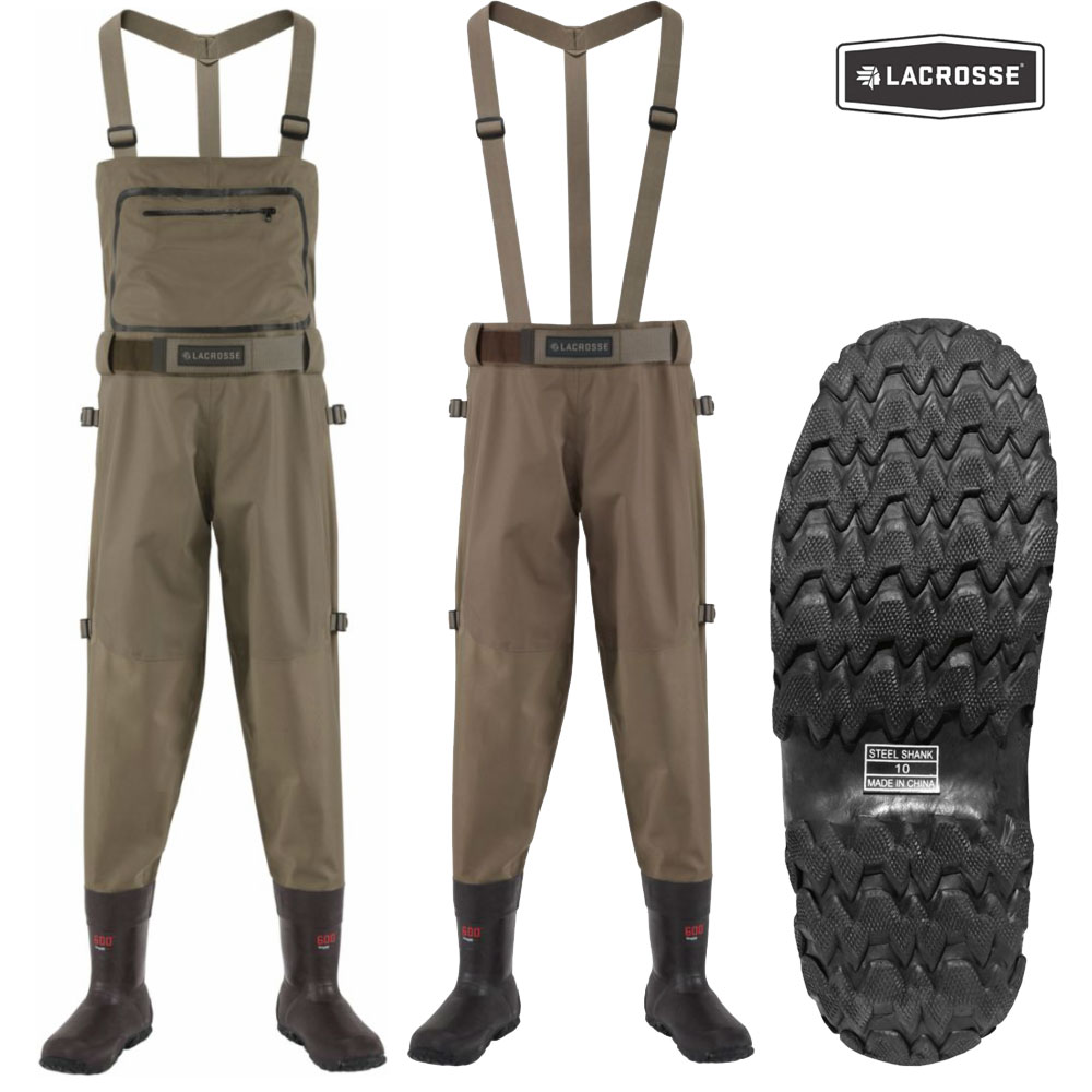 LaCrosse Alpha Swampfox 600g Waders (14)- Brown
