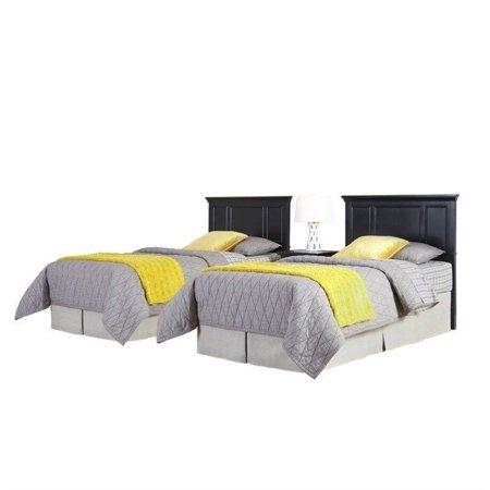 Home Styles Bedford Two Twin Headboards 3 Piece Bedroom Set in Black - image 1 de 2