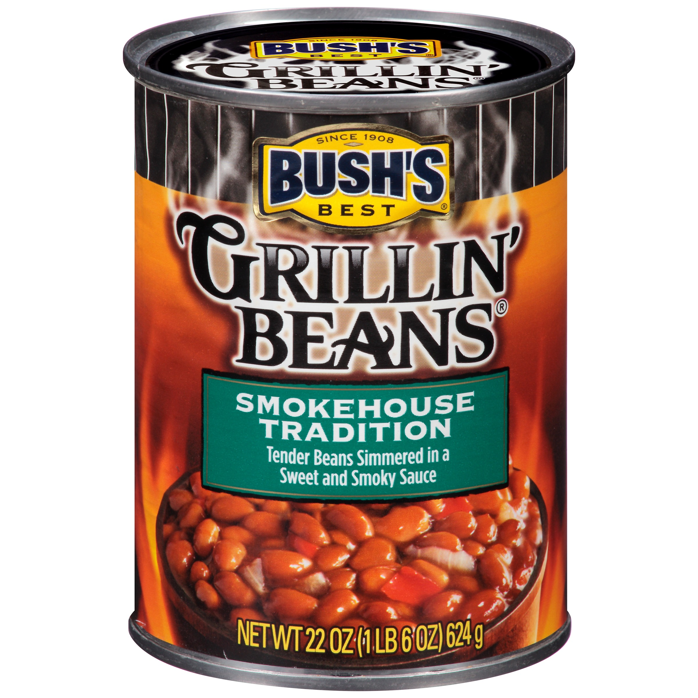 Bushs Best Smokehouse Tradition Grillin Beans, 22 oz by Bush Brothers & Company