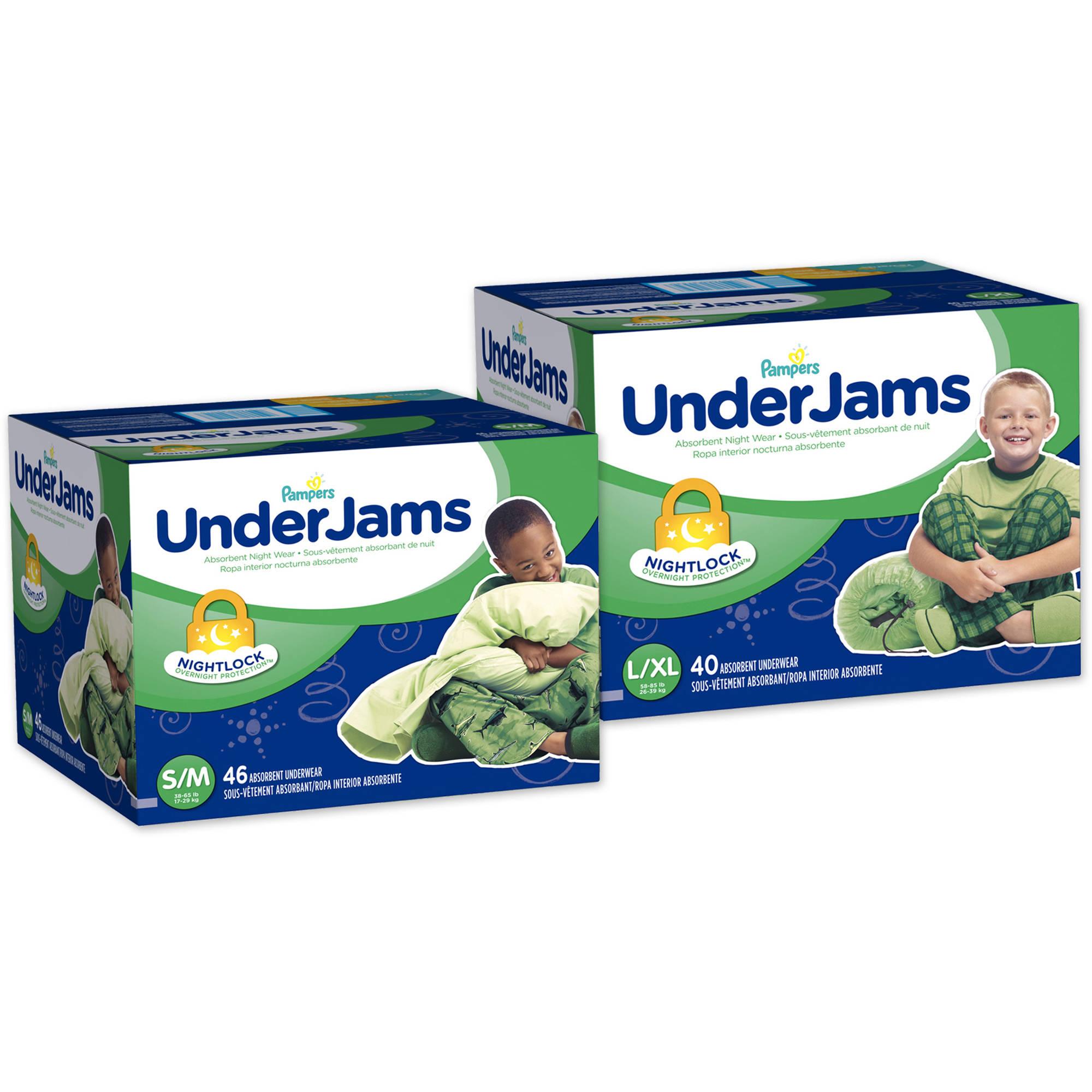 Pampers Boys' Underjams Absorbent Underwear, Big Pack (Choose Your Size)