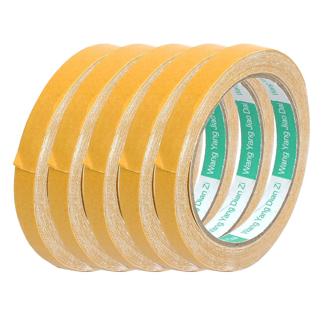 5 Pcs White Strong Double Sided Waterproof Sponge Tape 10 Meters Long 1.2cm Wide