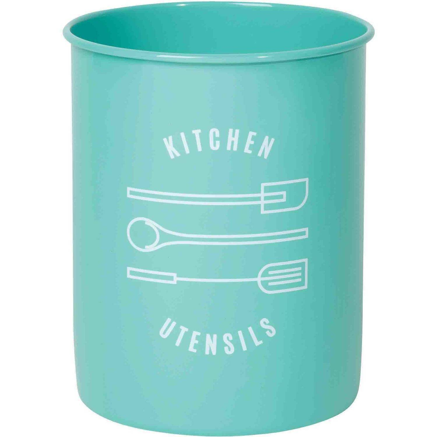 Now Designs Kitchen Utensil Crock, Turquoise