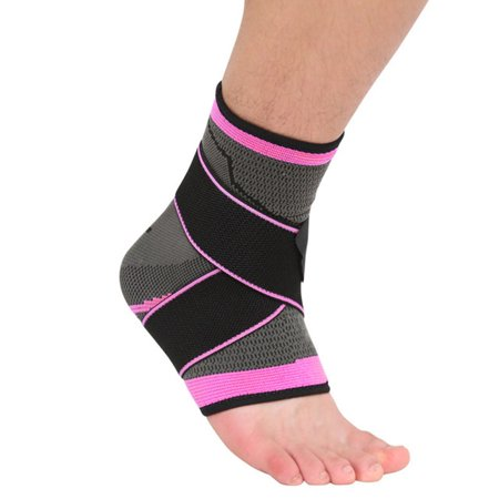 Ankle Support Nylon Spandex Latex 360 Degree Protection Elastic Breathable Anti-slip Foot Sleeve Heel Cover Protective Wrap Sportswear (E4hats Nylon Wrap)
