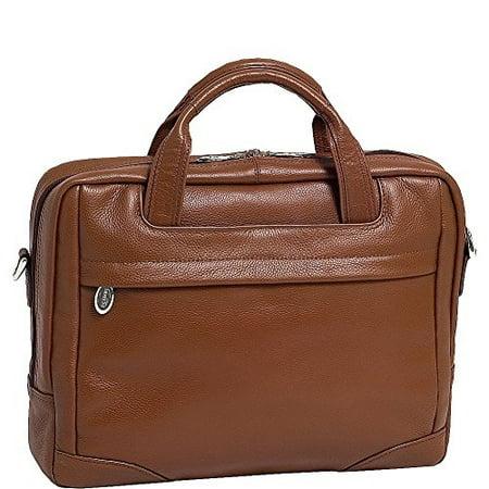 McKleinUSA MONTCLARE 15494 Brown Leather Netbook Laptop Brief