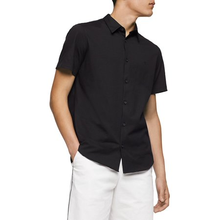 Knit Button-Front Shirt
