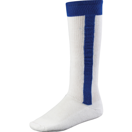 TCK 2n1 All Sport Stirrup Socks for baseball, softball, fast-pitch (Royal Blue, L) Purple Baseball Stirrup