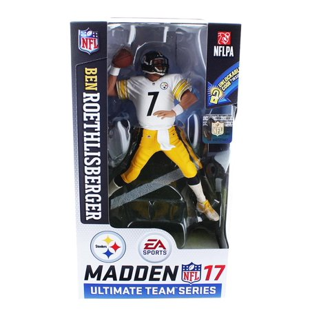 McFarlane NFL EA Sports Madden 17 Ultimate Team Series 2 Ben Roethlisberger Action Figure [White Jersey] Ben Roethlisberger Signed Football