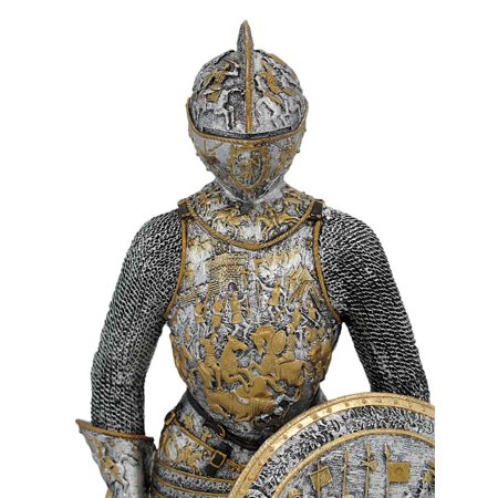 Medieval French Knight In Armor Statue Figure Armour - image 4 de 5