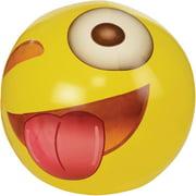 "Emoji Gigantic 56"" Wink Beach Ball; Almost 5'"
