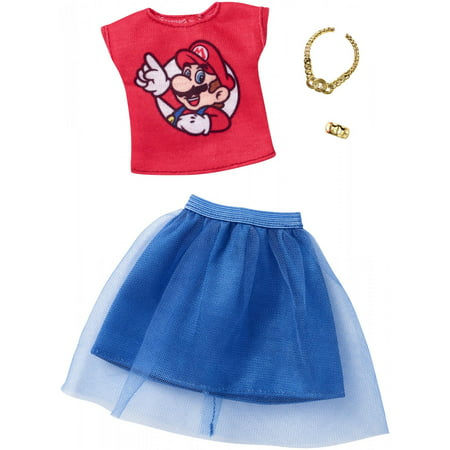 Barbie Clothing Super Mario Top & Tulle Skirt Outfit for Barbie Doll