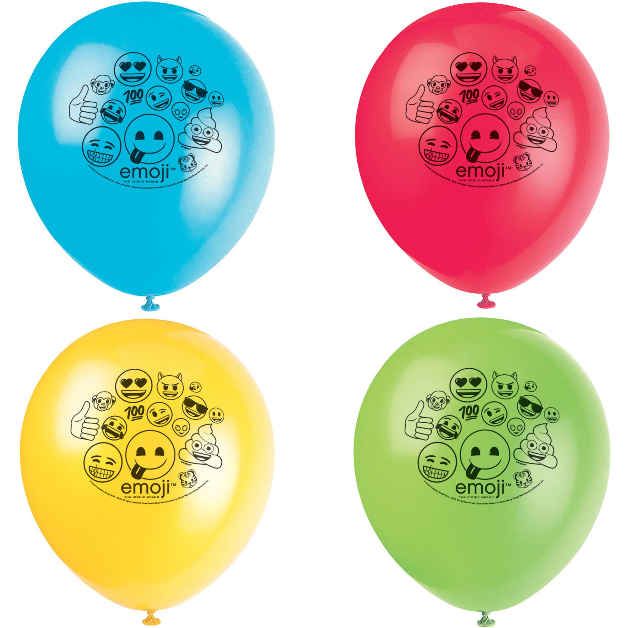 Latex Emoji Balloons, 12 in, 8ct