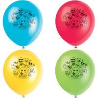 Latex Emoji Balloons, 12 in, 8ct