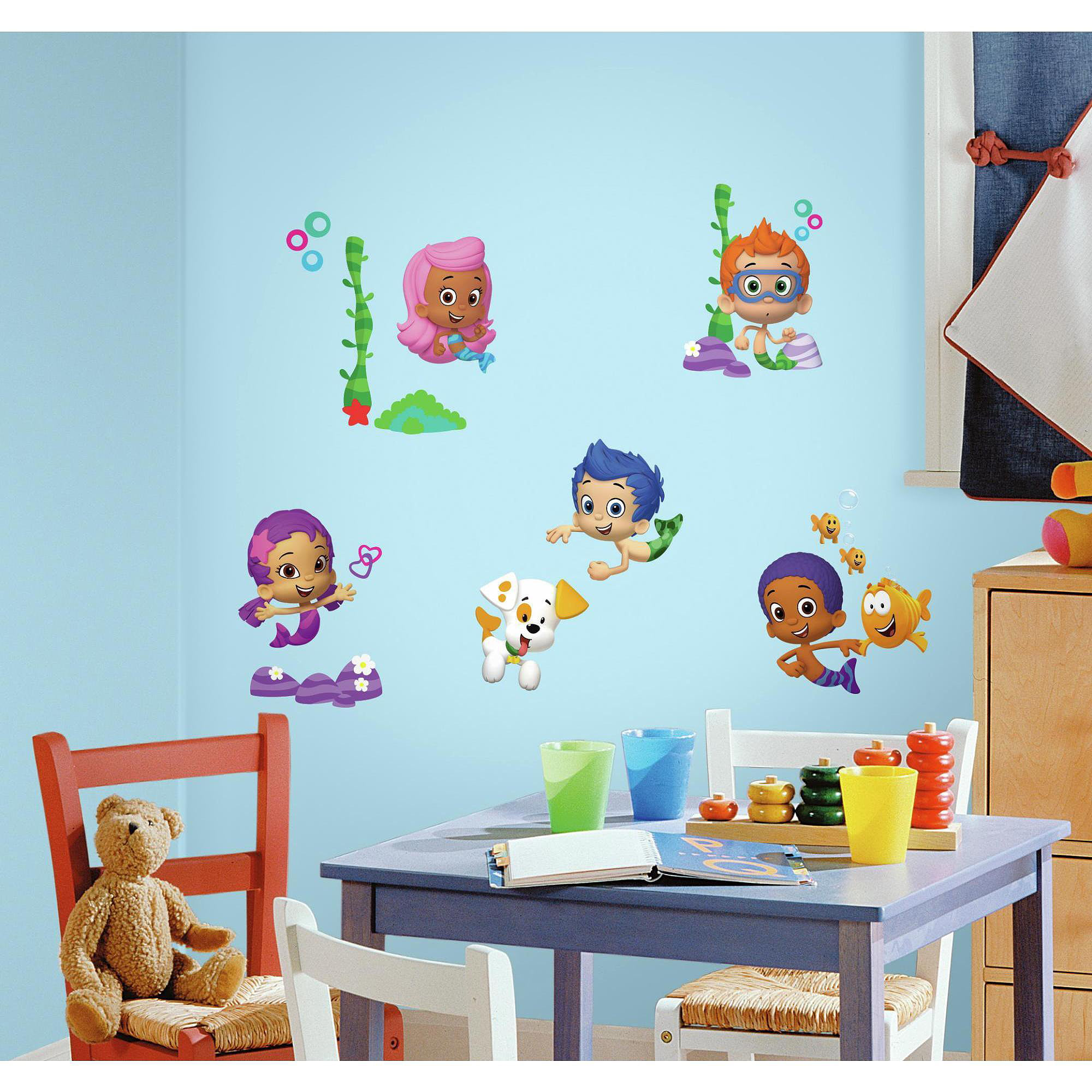 Bubble Guppies Wall Decal Decorations - Walmart.com