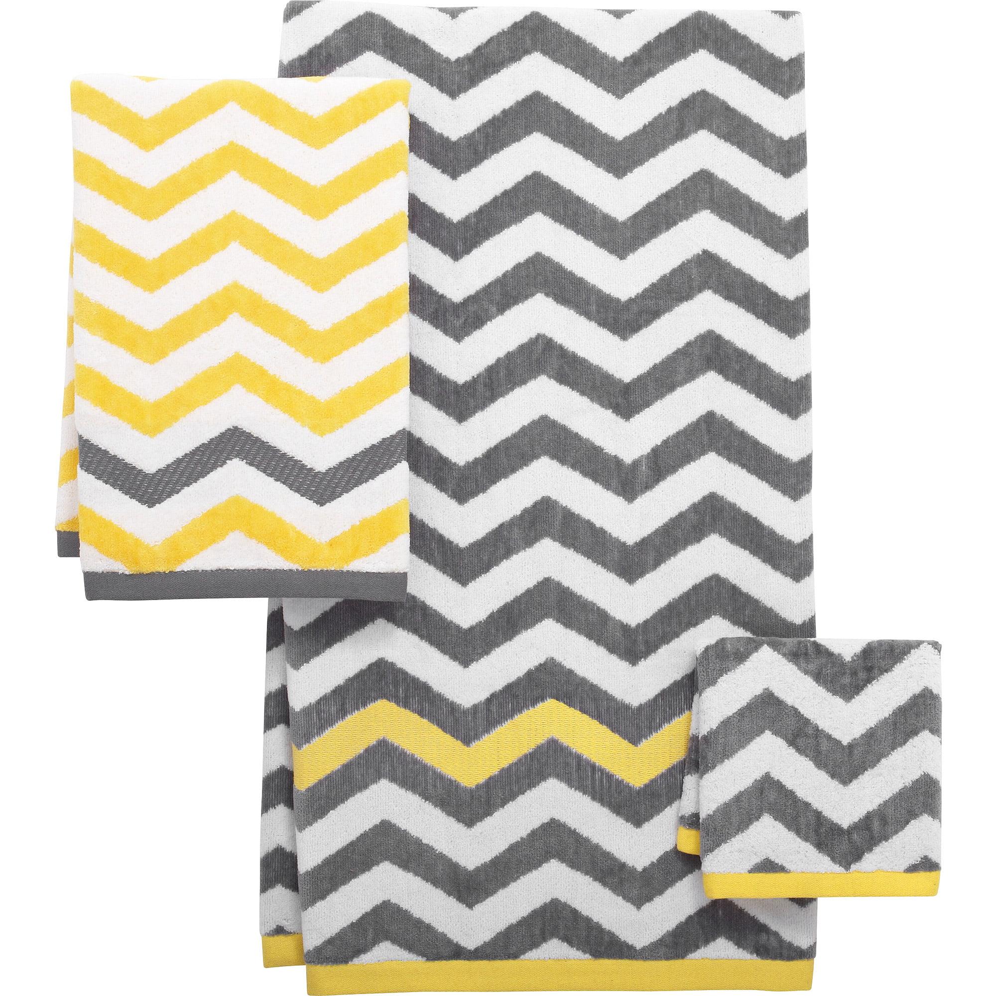 Mainstays Chevron Decorative Bath Towel Collection Walmart