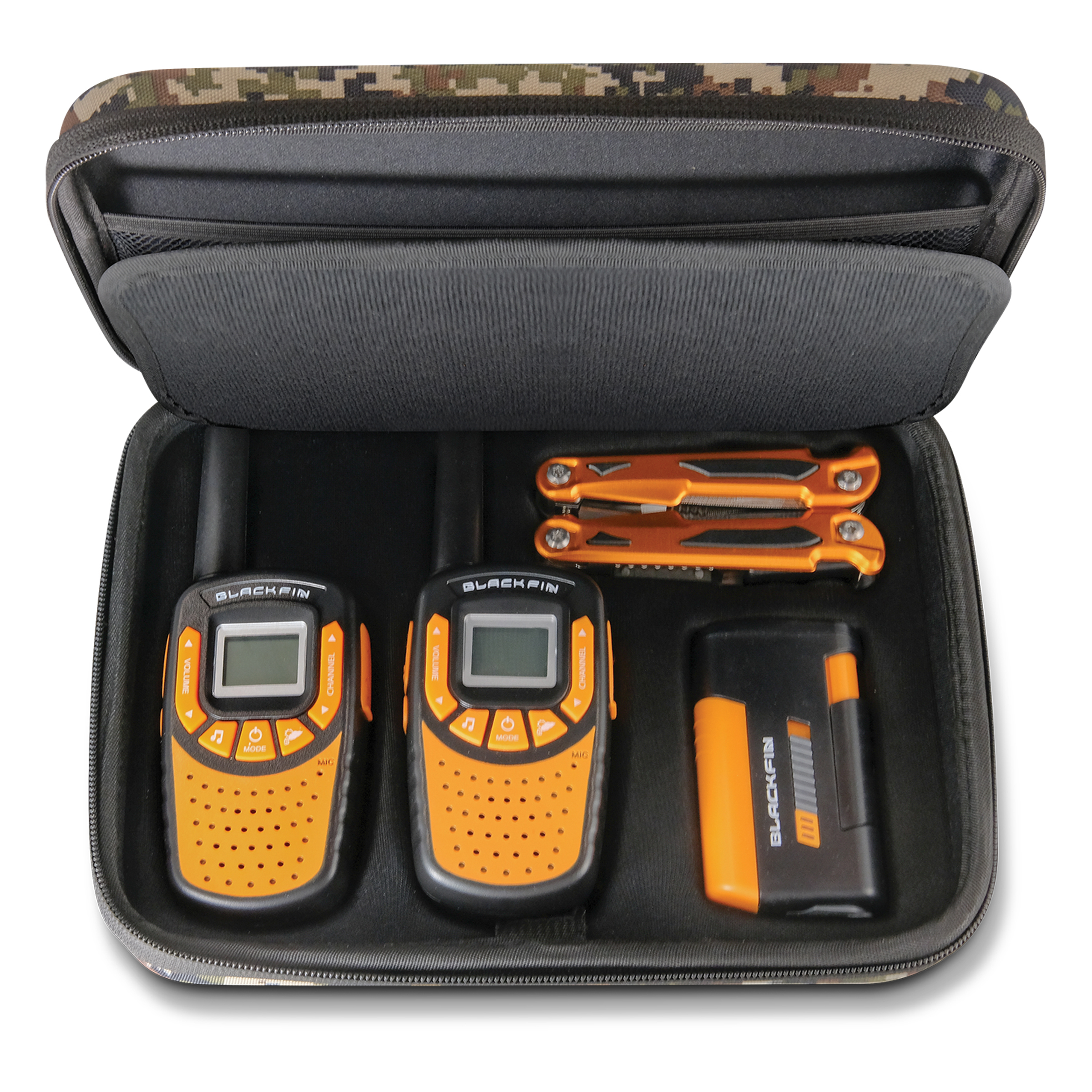 WALKIE TALKIE SURVIVAL KIT by Black Fin®