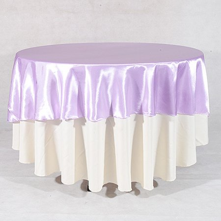 Lavender - 90 Inch Satin Round Tablecloths