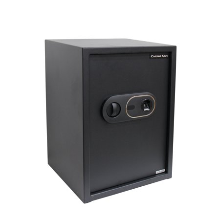 Caesar Safe ZD500-29 Solid Steel Biometric Personal Home Safe with Fast Access Fingerprint Recognition for Wall, Floor or Closet – Secures Jewelry, Gun, Pistol, Money &Valuables - 1.8 Cubic Feet