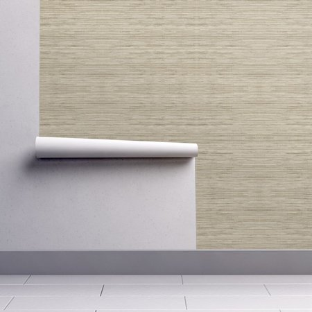 Wallpaper Roll or Sample: Grasscloth Natural Tan Taupe