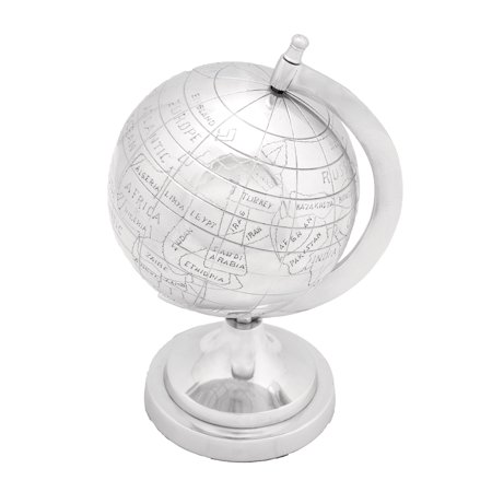 Aluminium Decor Globe In Silver Finish Write A Review