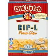 Old Dutch Rip-L Potato Chips, 15 Oz.