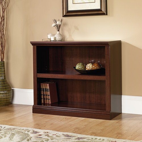 Charming Sauder 2 Shelf Bookcase, Select Cherry