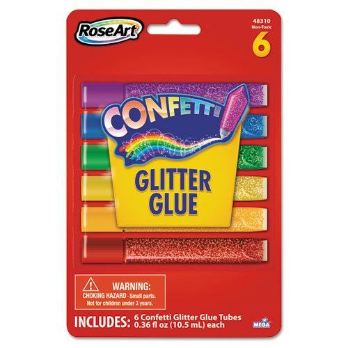 Roseart Confetti Glitter Glue Stick (6 Pack)