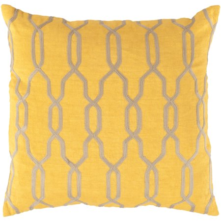 """Surya COM-GTS-1818 Gates 18"""" Wide Square Ogee Linen Accent Pillow Cover"""