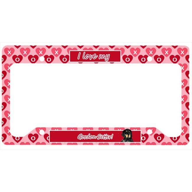 Carolines Treasures SS4515LPF Gordon Setter License Plate Frame