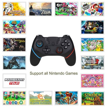 Wireless Controller for Nintendo Switch Pro,Remote Controller Gamepad Joypad for Nintendo Switch Console w/ Gyro Axis, Turbo Dual Vibration - image 7 of 9