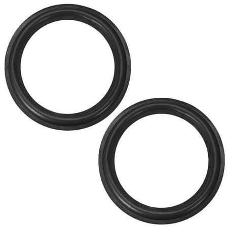 Folded Horn Speakers (10 Inch Speaker Foam Edge Folding Ring  Horn Replacement Parts for Speaker Black 2)