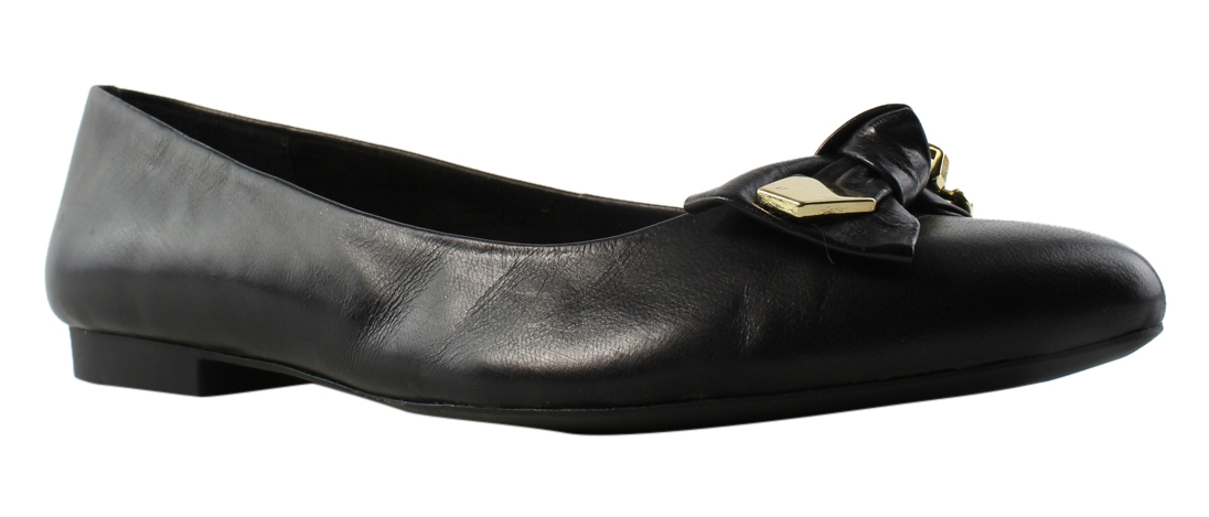 Bella Vita Womens BlackLeather Ballerinas Flats Size 7.5 New by Bella Vita