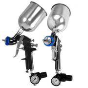 Hvlp Air Spray Paint Gun With Gauge 2.0 Mm Gravity Feed Shop Tool