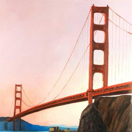 Sunset on the Golden Gate Bridge Poster Print by Atelier B Art Studio