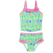 Newborn Baby Girl Luau Party Flamingo Tankini Swimsuit