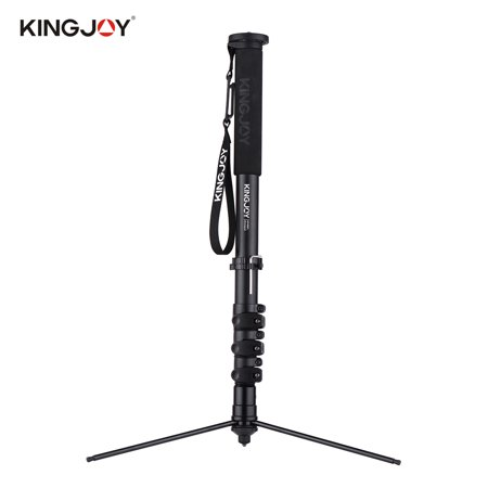 KINGJOY MP408FL Photography Camera Monopod Tripod Aluminum Alloy 4-Section 60.5-167.5cm Adjustable Height Max. Load 15kg with 1/4 Inch & 3/8 Inch Screw Mount for Canon Nikon Sony DSLR Cameras - image 1 de 7