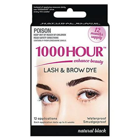 Eyelash & Brow Dye - Tint Kit & Permanent Mascara Black by