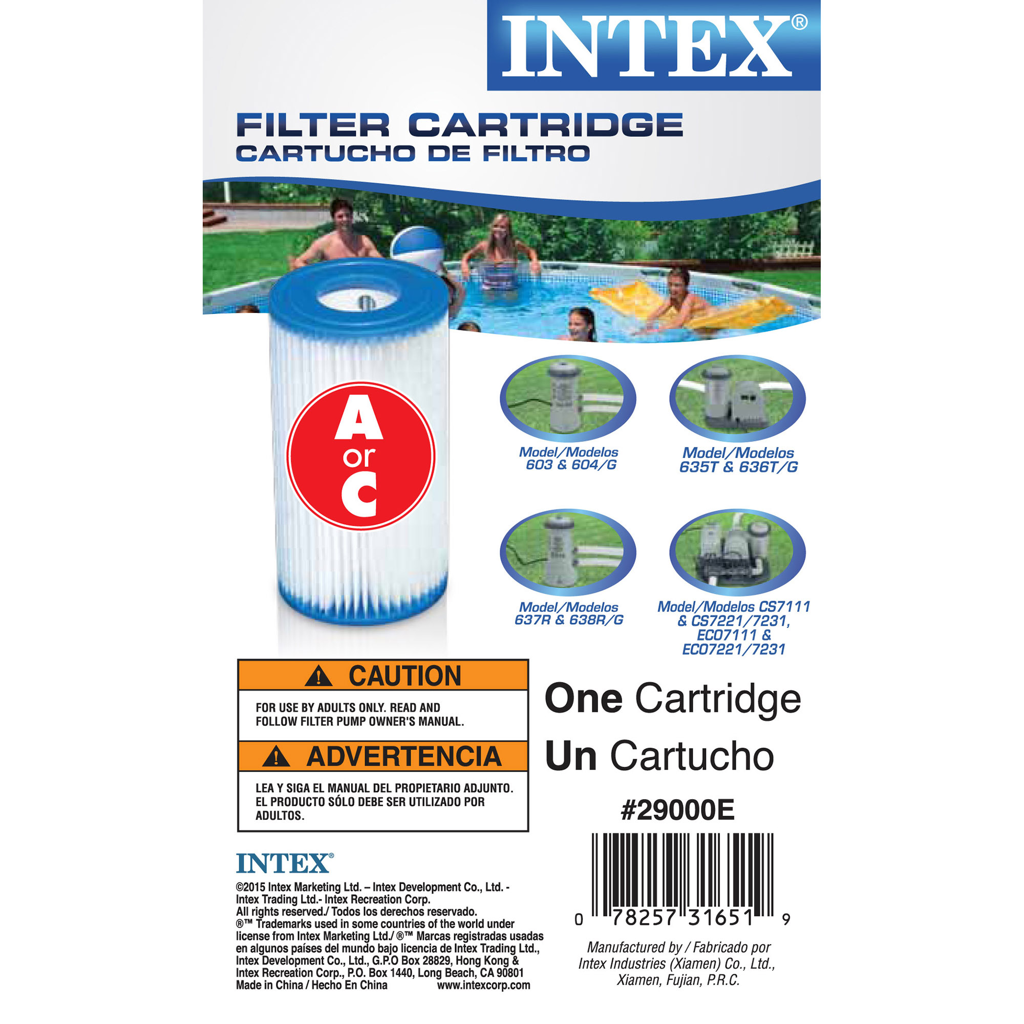 Intex Pool Easy Set Type A Replacement Filter Pump Cartridge | 29000E (6  Pack) - Walmart.com