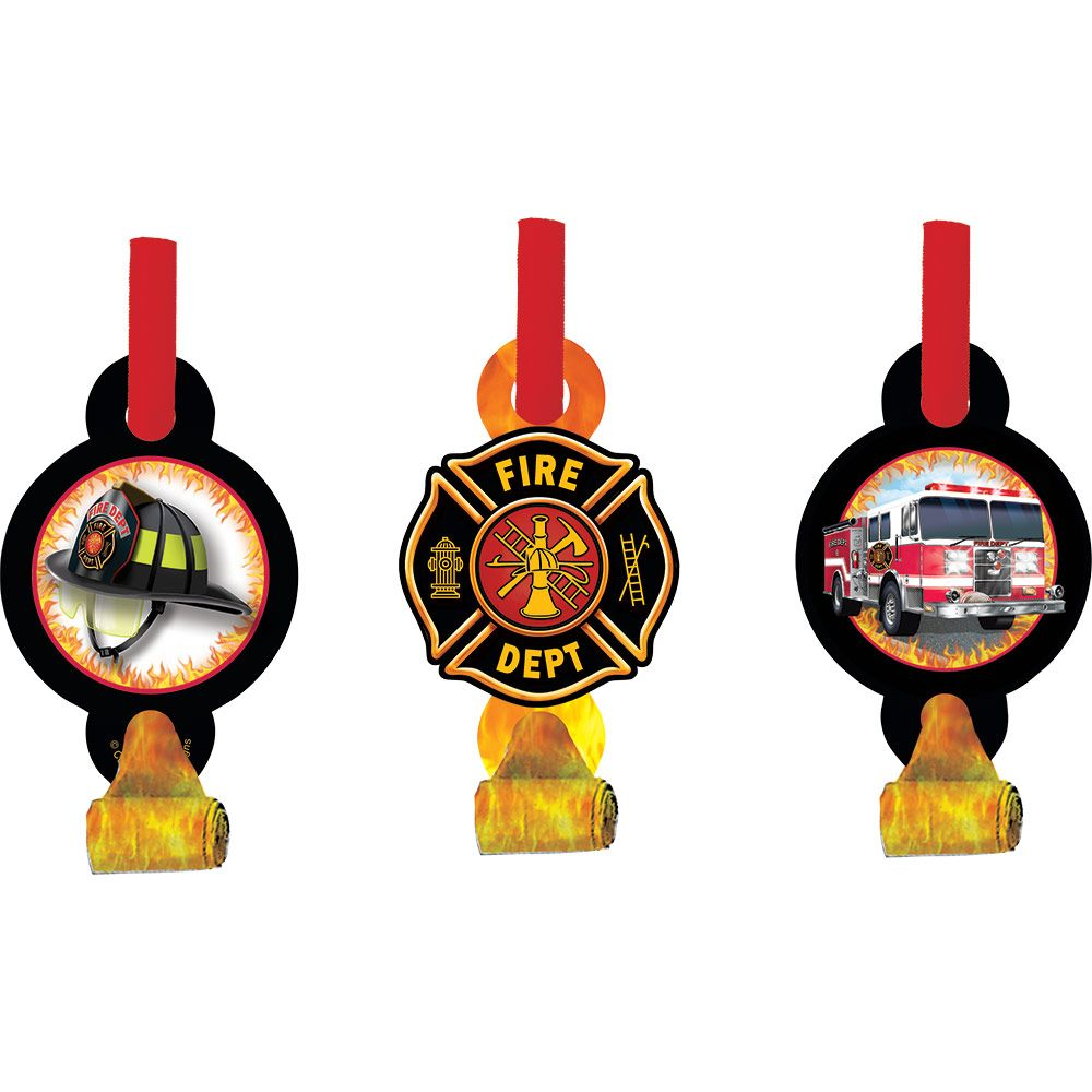 Creative Converting BB025556 Fire Watch Blowouts -8 Pack