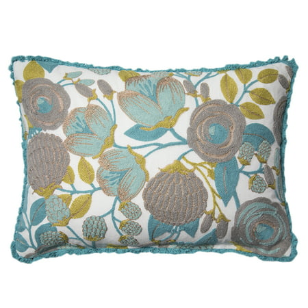 - Better Homes and Gardens Blush Bloom Accent Pillow, Green, 14