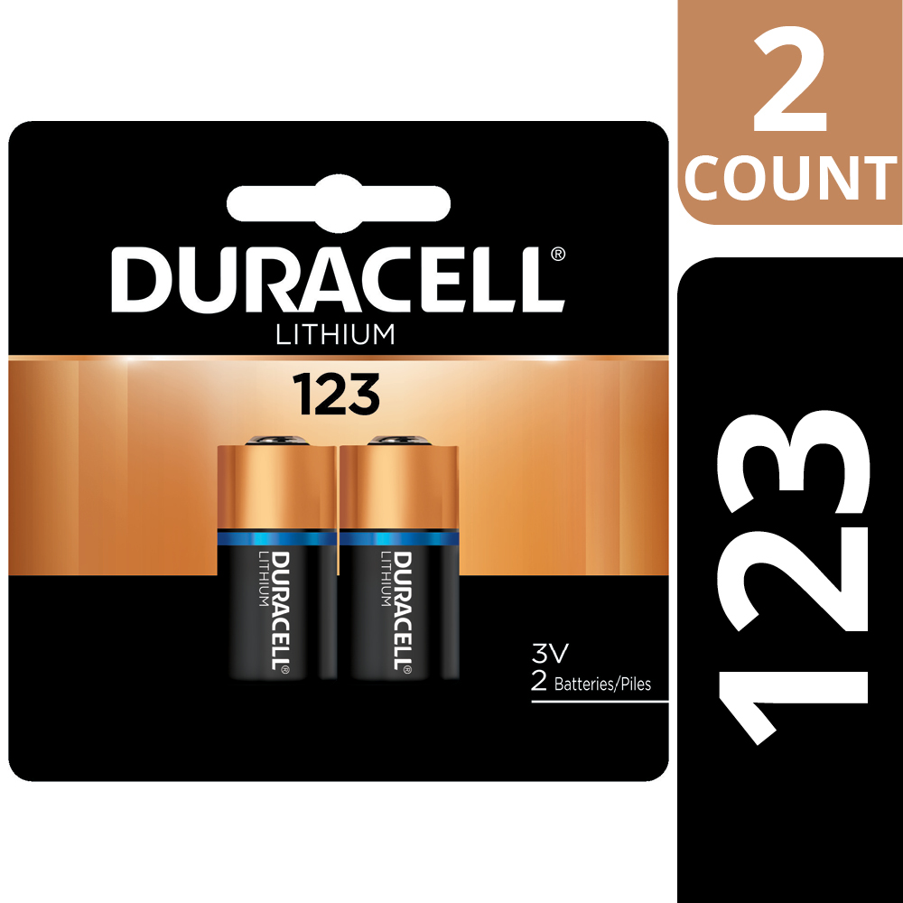 Duracell 3V High Performance Lithium Battery 123, 2 Pack, Long-Lasting