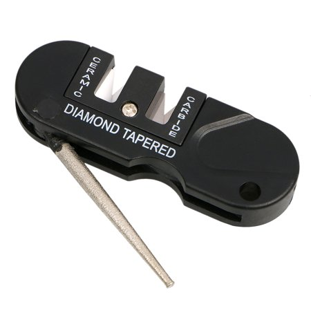 Diamond Taper Sharpener (EDC Knife Sharpener Tungsten Steel Grindstone Diamond Taper Outdoor Pocket Tool )