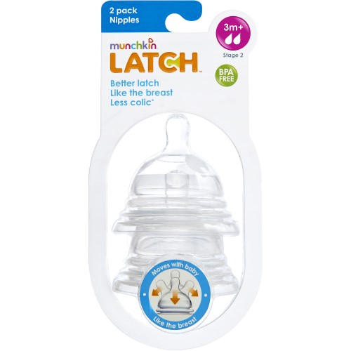 Munchkin Latch Stage 2 Nipple (Pack of 8)