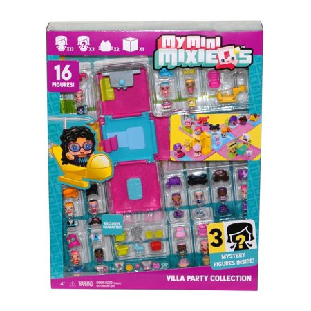 Party Figure - My Mini MixieQ's Villa Party Collection With 16 Figures (For Ages 4+ Years)New By My Minni MixieQs