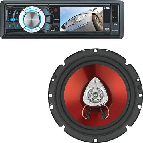 Boss Audio In-Dash Receiver + Speaker Clearance Bundle